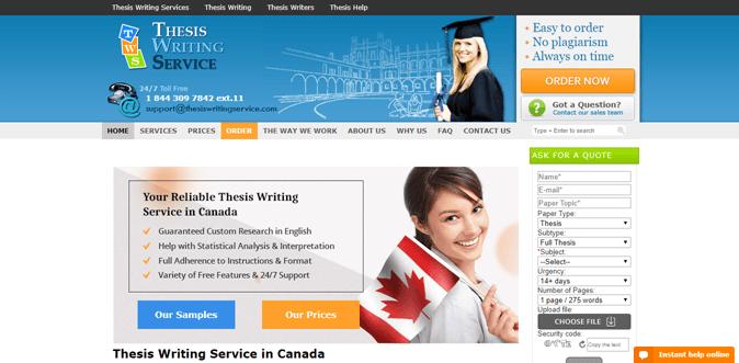 canada.thesiswritingservice.com review