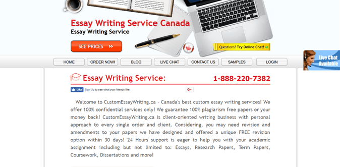 customessaywriting.ca review